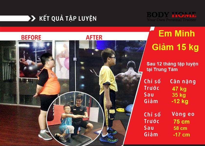 Kết quả tập luyện Em Minh
